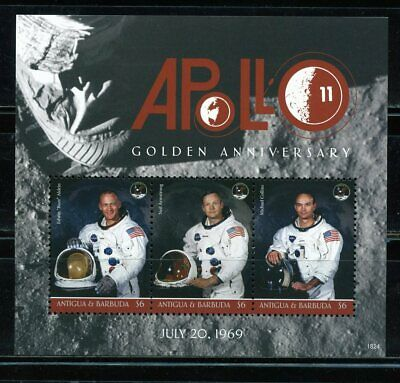Antigjua  2019  Golden  Anniversary Of Apollo 11  Sheet  Mint Never   Hinged