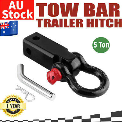 Tow Bar Hitch Receiver Towbar 4WD Off Road Recovery 5Ton Bow Shackle Tool