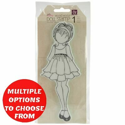 Prima Marketing Julie Nutting Mixed Media Cling Rubber Stamp-DOLL9-See Options