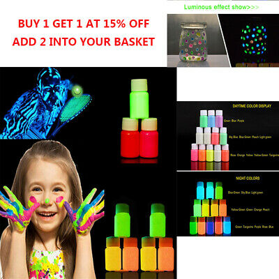 Glow In The Dark Luminescent Luminous paint 25g Party DIY Bright Acrylic Pigment