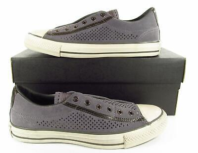 new arrival 6ca21 dbf95 Converse by John Varvatos Vintage Slip On Sneaker Perforated Suede Grey  156712C