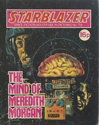 The Mind Of Meredith Morgan,no.76,starblazer Space Fiction Adventure In Pictures