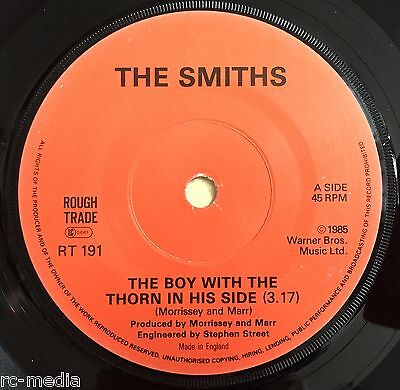 The Smiths -The Boy With The Thorn...- Very Rare Irish Solid Centre 7""