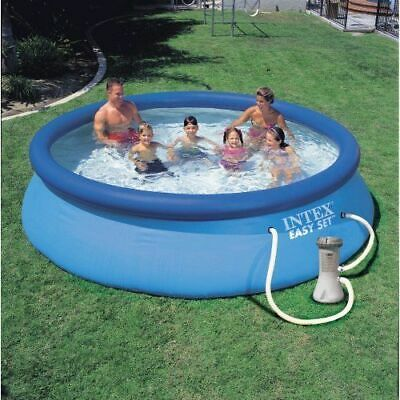 Intex 12 x 30 Inch Easy Set Above Ground Inflatable Swimming Pool & Filter Pump