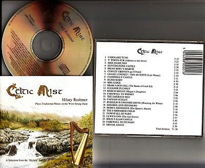 Hilary Rushmer : Celtic Mist CD (Traditional Wire Strung Harp/Folk Music) Irish