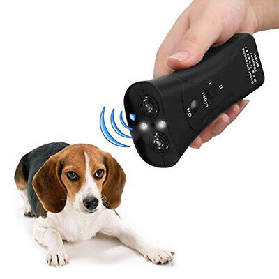 Ultrasonic Anti Dog Barking Pet Trainer Gentle Chaser Device With LED Light New