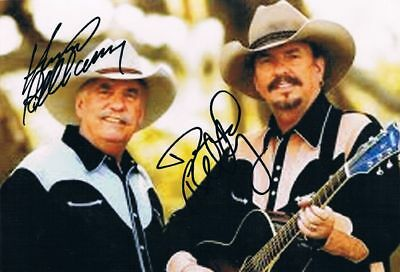 "The Bellamy Brothers genuine autograph 6""x8"" photo signed Counrty"