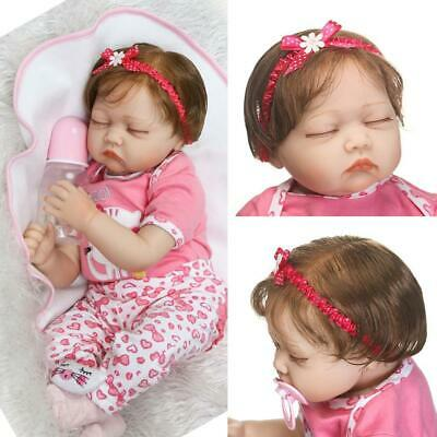 Kids Soft Silicone Realistic With Clothes Reborn Baby Doll N98B 22