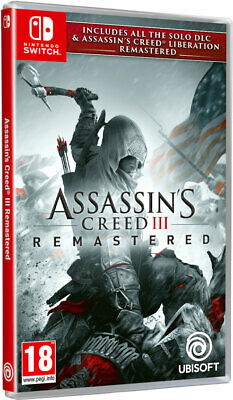 Assassins Creed III Remastered SWITCH **PRE-ORDER ITEM** Release Date: 21/05/19