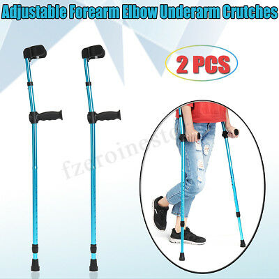1 Pair Adults Foldable Walking Forearm Cuff Crutches Stick Arm Cuff Elbow