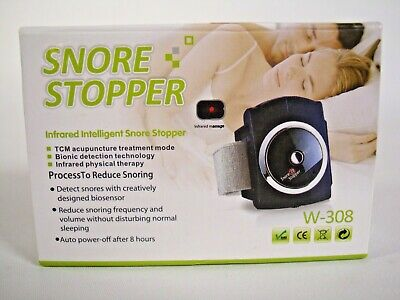 Infrared Intelligent Snore Stopper W-308 Wristband Watch Anti Snoring Pre owned
