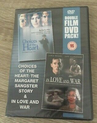 CHOICE OF HEART / IN LOVE AND WAR - 2 DVD Pack Region Free BNIW NEW SEALED GIFT