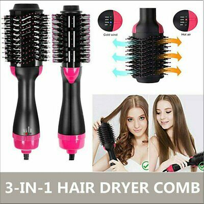 3 In1 One Step Hair Dryer and Volumizer Brush Straightening Curling Iron Comb AU