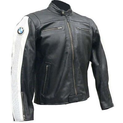 BMW GIACCA IN PELLE MOTO Uomo PELLE BIKER GIACCA GIACCA IN