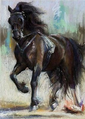 CHOP285 100% hand-painted home decor fancy horse art  oil painting on canvas