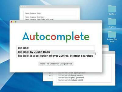 Autocomplete: The Book by Justin Hook Paperback Book Free Shipping!