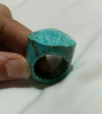 Ancient RING Turquoise VIKING EXTREMLY OLD Stone Rare Type Artifact Stunning