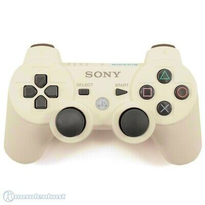 PS3 - originale DualShock 3 Wireless controller #bianco [Sony] vergilbt usato
