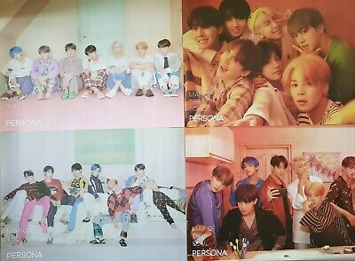 """K-POP BTS Poster 4 Set - Official 2019 NEW Album """" MAP OF THE SOUL : PERSONA """""""