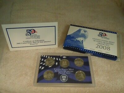 2008 United States Mint 50 State Quarters Proof 5 Coin Set