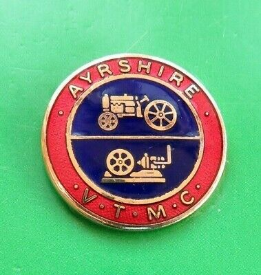 Ayreshire  Vintage  Tractor  &  Machinery  Club  <>  Lapel  Badge  <>  Used