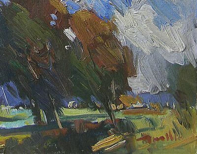 JOSE TRUJILLO Oil PAINTING IMPRESSIONIST EXPRESSIONIST TREES ORCHARD MODERNISm