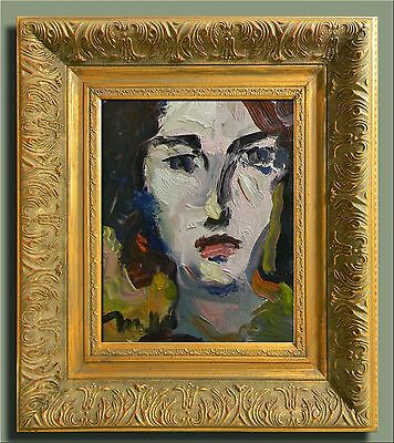 "JOSE TRUJILLO ORIGINAL 10"" CANVAS IMPRESSIONISM FRAMED Oil Painting PORTRAITS"