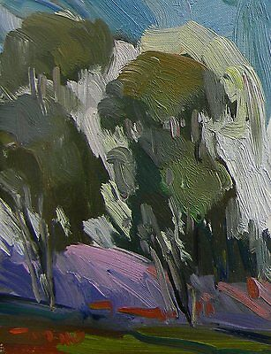 Jose Trujillo Oil Painting California Impressionist Eucalyptus Trees - Plein Air