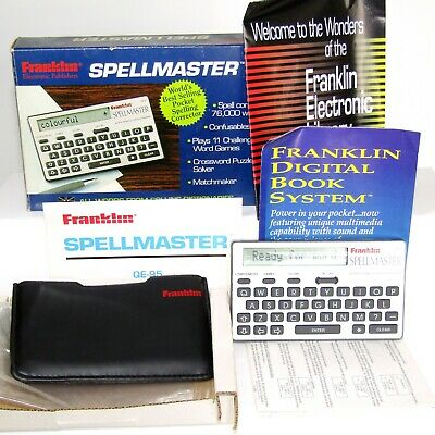 Franklin Spellmaster Electronic Portable Pocket Crossword Solver QE-95 Boxed