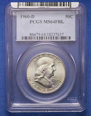 1960-D Franklin Half Dollar PCGS MS 64 FBL No Reserve.