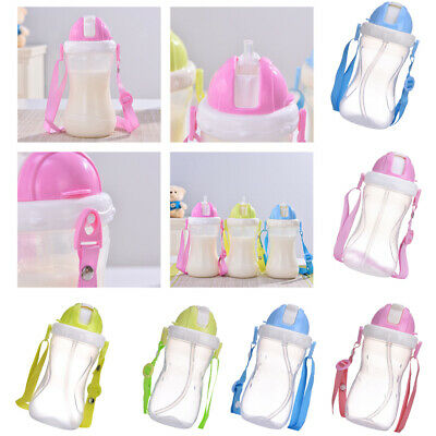Baby Toddler Kids Children School Drinking Water Straw Bottle Sippy Suction Cup