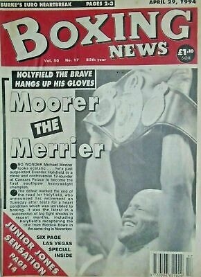 BOXING NEWS - 29 APRIL 1994 - HOLYFIELD, MICHEAL MOORER ETC free p&p to uk