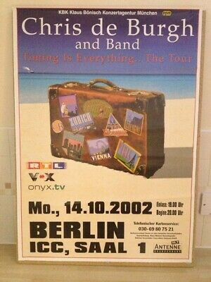 Chris De Burgh Berlin October 14 2002 Poster Timing Is Everything Tour Poster  (