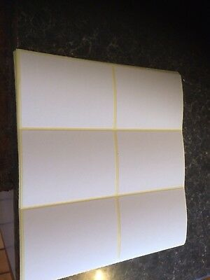 200 BLANK LARGE White Self Adhesive Sticky Labels Postage Labels
