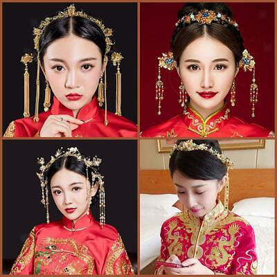 149f4e782 Bridal Headdress Pageant Jewelry Chinese Traditional Wedding Hair  Accessories