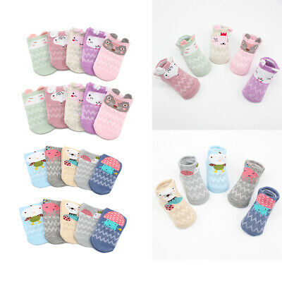 5Pairs/lot Summer Baby Girls Boys Socks Newborn Cotton Casual Mesh Socks