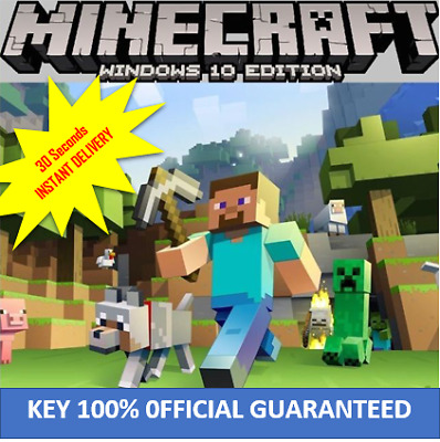 Minecraft Windows 10 Edition,CD KEY INSTANT DELIVERY NO BOX ,ACTIVATION KEY ONLY