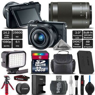 Canon EOS M100 Mirrorless Digital Camera with 15-45mm + 55-200mm IS STM Lens