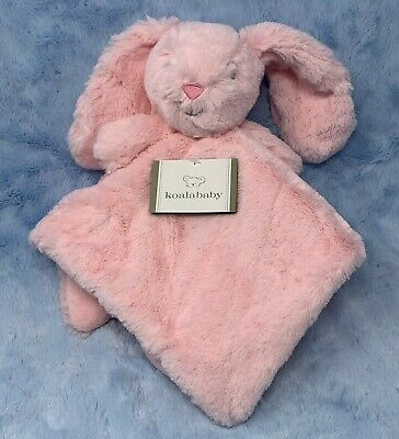 Koala Baby Pink Bunny Rabbit Baby Security Blanket Rattle