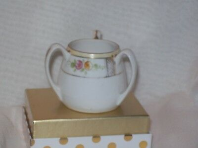Three Handle Cup/Toothpick Holder Hand Painted by Nippon