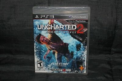 Uncharted 2: Among Thieves (PlayStation 3, PS3) New Sealed Original Black Label