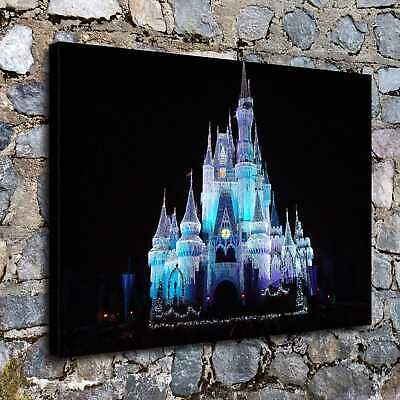 The Disney castle Paintings HD Canvas Print  Home Decor Wall Art Pictures14x18