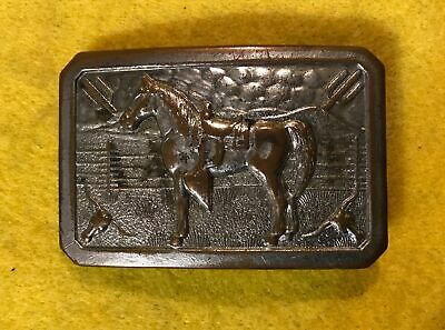 Vintage 1978 I/'M WITH STUPID Finger Pointing Solid BRASS BELT BUCKLE Made in USA