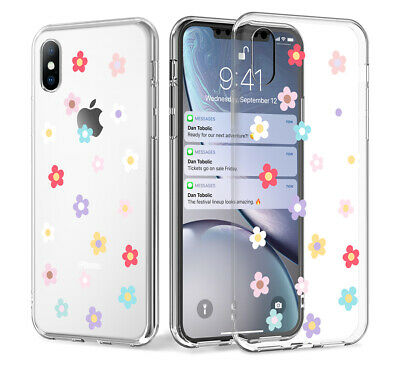 Shockproof Transparent Silicone Flower Case Cover For iPhone XS Max XR X 8 7 6 5