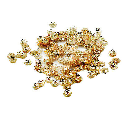1000pcs Silver/Gold Plated DIY Flower Bead Caps 5mm for Jewelry Making Findings