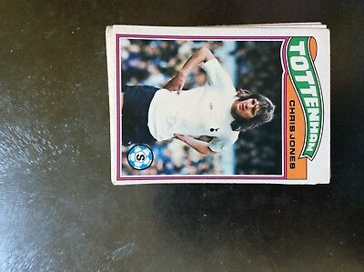 TOPPS-FOOTBALL ORANGE BACK 1978 CHRIS JONES -#123- TOTTENHAM SPURS