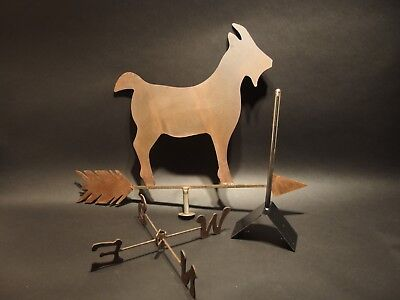 Antique Vintage Style Sheet Iron Folk Art Goat WeatherVane