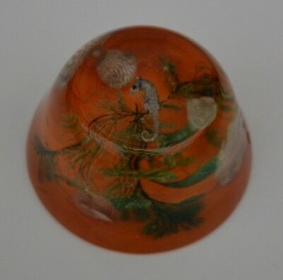 VINTAGE RESIN / LUCITE SEA LIFE PAPERWEIGHT 1960s/70s MADE IN WALES!
