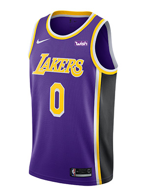 7c6299dffae Los Angeles Lakers - Kyle Kuzma Nike Purple Wish Logo Swingman Jersey  Statement