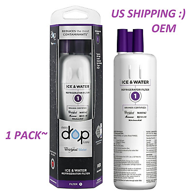 2 Pack Every Drop1 Whirlpool.W10295370A.EDR1RXD1 Kenmore Fridge Water Filter 1